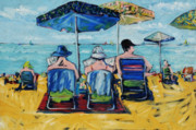 Beach Towel Prints - Waikiki Print by Russell Pierce