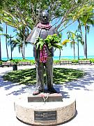 Bronce Metal Prints - Waikiki Statue - Prince Kuhio Metal Print by Mary Deal