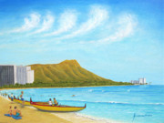Waikiki Wonder Print by Jerome Stumphauzer