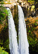 Incline Photo Posters - Wailua Falls Poster by Christi Kraft
