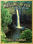 Hilo Framed Prints - Wailuku State Park Hawaii Framed Print by Vintage Poster Designs