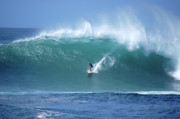 North Shore Photo Prints - Waimea Bay Boomer Print by Kevin Smith