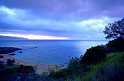 Ocean Panorama Metal Prints - Waimea Bay Evening Metal Print by Kevin Smith