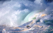 North Shore Prints - Waimea Bay Shorebreak Print by Kevin Smith