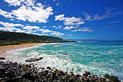 North Shore Prints - Waimea Bay Print by Ty Helbach