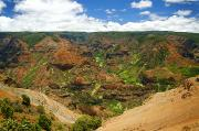 Waimea Valley Prints - Waimea Canyon and Blue Sky Print by Kicka Witte - Printscapes