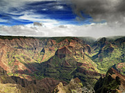 Grand Canyon Photo Metal Prints - Waimea Canyon Hawaii Kauai Metal Print by Brendan Reals