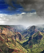 Waimea Valley Posters - Waimea Canyon Kauai Hawaii Poster by Brendan Reals