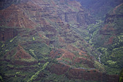 Urban Canyon Prints - Waimea Canyon Kauai, Hawaii, Usa Print by John Burcham