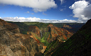 Waimea Prints - Waimea Canyon Landscape Print by Mike Reid