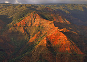 Waimea Prints - Waimea Canyon Light Print by Stephen  Vecchiotti