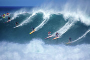 Waimea Bay Prints - Waimea Full Flight Print by Kevin Smith