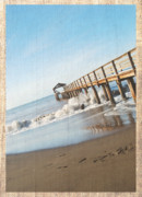 Mgp Photograph Posters - Waimea Pier Poster by Michael Peychich