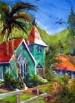 Hanalei Framed Prints - Waioli Church Framed Print by Jerri Grindle