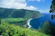 Hamakua Framed Prints - Waipio Valley Lookou Framed Print by Greg Vaughn - Printscapes