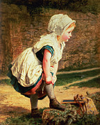 Little Girl Painting Posters - Wait for Me Poster by Sophie Anderson