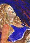Singer Songwriter Paintings - Waited For June a Portrait of Megan Burtt by Charles Snyder