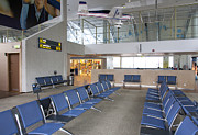 Tallinn Airport Photo Posters - Waiting Area at an Airport Gate Poster by Jaak Nilson