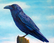 Raven Prints - Waiting Print by Brian  Commerford
