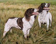 Spaniels Paintings - Waiting by Caroline Collinson