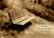Scripture Photo Posters - Waiting Poster by Debra Straub