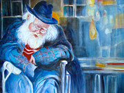 Father Christmas Originals - Waiting For Godot by Myra Evans