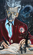 Lone Tree Prints - Waiting For Godot- Samuel Beckett Print by David Fossaceca
