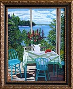 Brunch Paintings - Waiting for Lunch by Mimi  Bauer