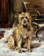 Pup Paintings - Waiting for Master   by Jane Bennett Constable