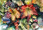 Grapevines Painting Prints - Waiting For Merlot Print by Diane Fujimoto