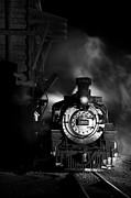 Steam And More Photography Framed Prints - Waiting for More Coal Black and White Framed Print by Ken Smith