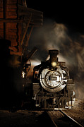 Steam Train Prints Art - Waiting for More Coal by Ken Smith