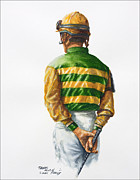 Jockey Paintings - Waiting for Silver Charm by Thomas Allen Pauly