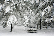 Winter Prints Digital Art Prints - Waiting for Spring Print by Lisa Stanley