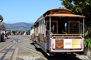 Waiting For The Cablecar At Fishermans Wharf . San Francisco California . 7d14099 Print by Wingsdomain Art and Photography