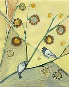 Bird Paintings - Waiting for the Dance of Spring by Jennifer Lommers