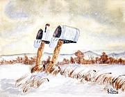 Watercolors - Waiting for the Mail by Rich Stedman