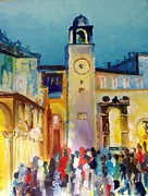 Waiting For The Midnight Chimes In Dubrovnik Print by FS Boric