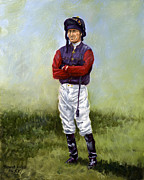 Jockey Paintings - Waiting for the Queen by Thomas Allen Pauly