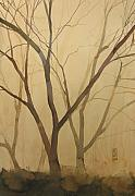 Branch Painting Originals - Waiting for the spring by Alessandro Andreuccetti