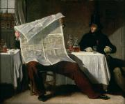 News Paintings - Waiting for the Times by Benjamin Robert Haydon