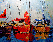 Sailboats Mixed Media - Waiting for the Weekend by Vickie Warner