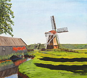 Netherlands Paintings - Waiting for the Wind by Alan Mager