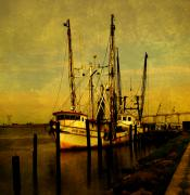 Shrimp Boat Prints - Waiting for tomorrow Print by Susanne Van Hulst