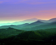 Blue Ridge Mountains Posters - Waiting For Twilight... Poster by Deb Howell