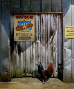 Rooster Art - Waiting for Watson 2 by Doug Strickland
