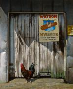 Shed Painting Prints - Waiting for Watson Print by Doug Strickland