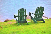 Chairs Digital Art Prints - Waiting for You Print by Betty LaRue