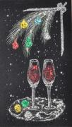 Wine Glass Paintings - Waiting for You by Georgeta  Blanaru