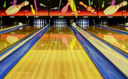 Bowling Alley Prints - Waiting For You In The Alley Print by Bob Christopher